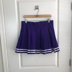 Purple and White Cheer Skirt